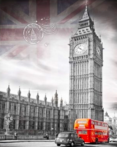 Картина по номерам 40x50 Лондон и его достопримечательность